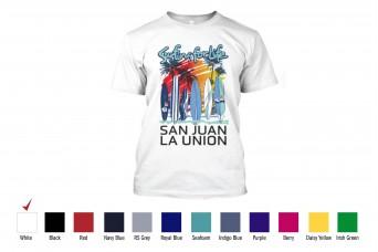 WLX -T-Shirt Cotton Surfing Is Life San Juan Beach Sand