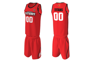 FNF - Basketball, Furious Titans Team Uniform, Sublimated Tops and Shorts