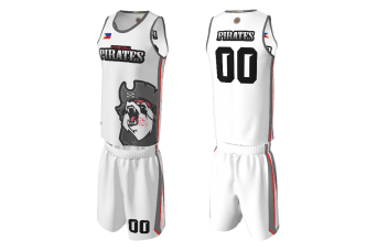 FNF - Basketball, Panda Pirates Team Uniform, Sublimated Tops and Shorts