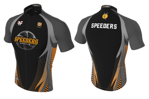 FNF - Cycling, Black Speeders, Tri-Blue Cycling Jersey