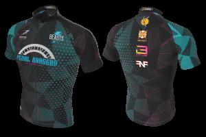 FNF - Cycling, Black Pedal Rangers, Tri-Blue Cycling Jersey