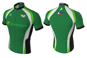 FNF - Cycling, Green Cyclo Style, Tri-Blue Cycling Jersey