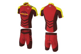 FNF - Cycling, Red Tritone Cycling Set, Sublimated Tops & Shorts