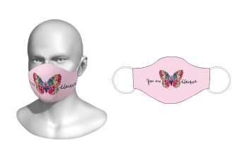 FNF - Washable Facemask, You Are Unique Butterfly, Spandex with Filter Pocket