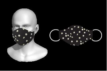 FNF - Washable Facemask, Floral Design 2, Spandex with Filter Pocket