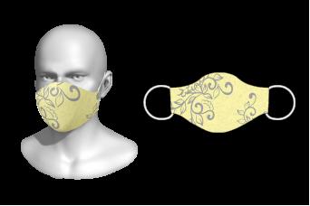 FNF - Washable Facemask, Floral Design 1, Spandex with Filter Pocket