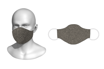 FNF - Washable Facemask, Abstract Vector Design 2, Spandex with Filter Pocket