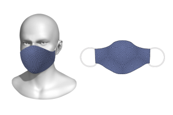 FNF - Washable Facemask, Abstract Vector Design 1, Spandex with Filter Pocket
