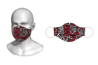FNF - Washable Facemask, Abstract Vector, Spandex with Filter Pocket