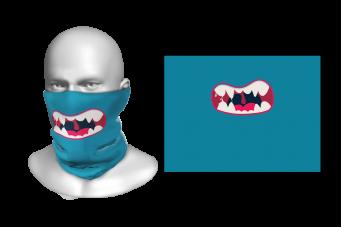 FNF - Head Gaiter, Tear Colored Cartoon Mouth, Spandex