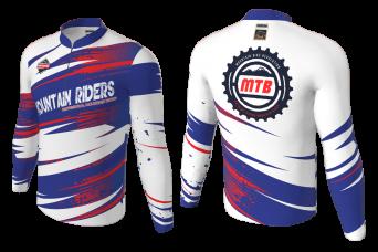 FNF -  Mountan Bike, Mountain Riders, Sublimated Long Sleeve Shirt