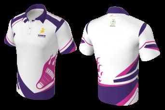 FNF - Badminton Polo Shirt, Sublimated T-Shirt