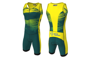 FNF - Triathlon, Green Hornet, Trisuit Sublimated Jersey