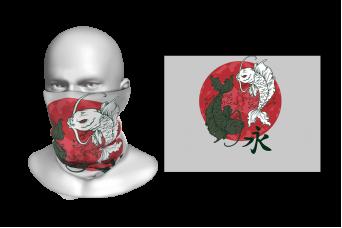 Perfect Prints - Head Gaiter, Yin and Yang, Spandex