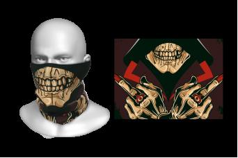 Perfect Prints - Head Gaiter, Deadly Skull, Spandex