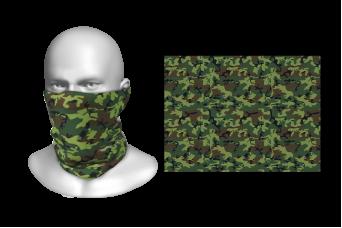 Perfect Prints - Head Gaiter, Green Camouflage Pattern, Spandex