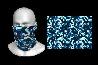 Perfect Prints - Head Gaiter, Blue Camouflage, Spandex