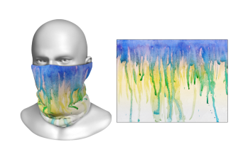Perfect Prints - Head Gaiter, Watercolor Drip, Spandex