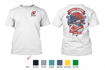 Perfect Prints - Cotton TShirt, Baseball Player, Front and Back Print