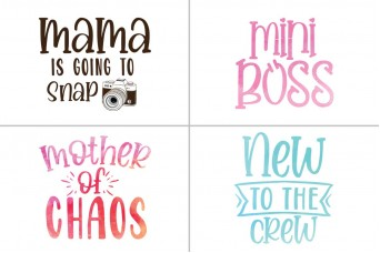 MVV Ready-Made Design - Mama Is Going To Snap, Mini Boss, Mother of Chaos, New to the Crew