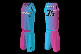 MVV - Basketball Jersey Miami Heat Blue-Pink Replica