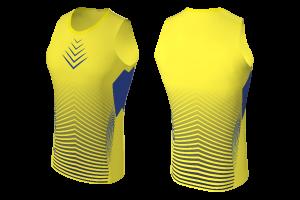 MVV - Tank Top Yellow Runners Sleeveless Shirt