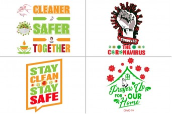 MVV - Ready-Made Design - Cleaner and Safer Together, Stay Clean Stay Safe, Prayers Up for our Home, I survived the Corona Virus