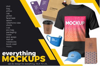 DesignGeek will  make mock-ups for apparel and other products
