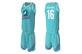 RAD - Blue Rays Masters Basketball Uniform