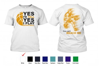 RAD - T-Shirt Cotton, Yes I Play Basketball