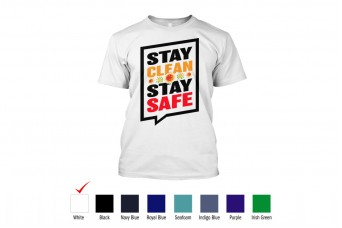 RAD - T-Shirt Cotton Front Design Stay Safe Tees, Covid